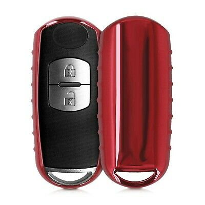 kwmobile Car Key Cover Compatible with Mazda 2 Button Car Key Keyless Go - So...