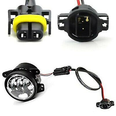 iJDMTOY (2) LED Fog Lamps Conversion Adapter Wires Compatible With 2010 and u...