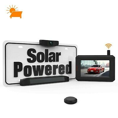 Solar Wireless Backup Camera with Stable Digital Signal, No Wiring Minutes In...