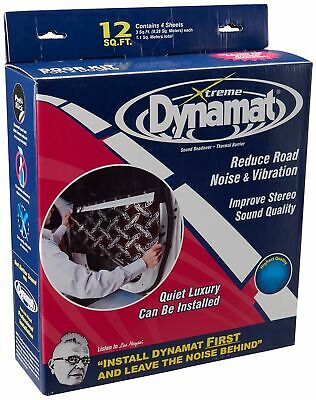 """Dynamat 10435 12"""" x 36"""" x 0.067"""" Thick Self-Adhesive Sound Deadener with Xtre..."""