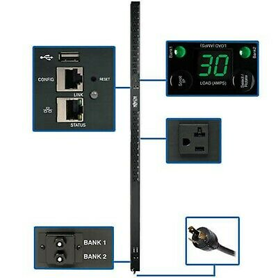 Tripp Lite PDU Monitored 2.9kW 120V 24 5-15/20R Outlets 30A with L5-30P, LX P...