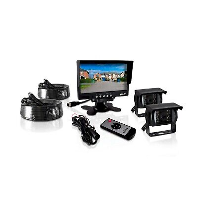 Pyle PLCMTR72 Weatherproof Rearview Backup Camera and Monitor Video System fo...