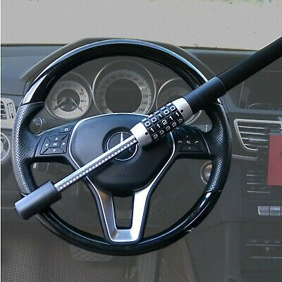Steering Wheel Lock 5 Digit Combination Anti-Theft Extendable Double Hook Car...