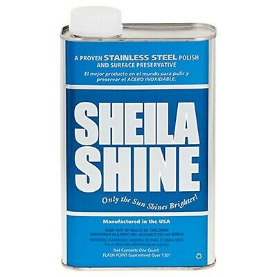 Sheila Shine Stainless Steel Cleaner and Polish, 1 Quart Can (2EA)
