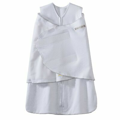 Halo Innovations Sleep Sack Cotton Swaddle, Silver Pin Dots, Small