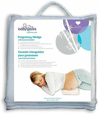 Baby Works Pregnancy Wedge with Bamboo Cover, Off-White