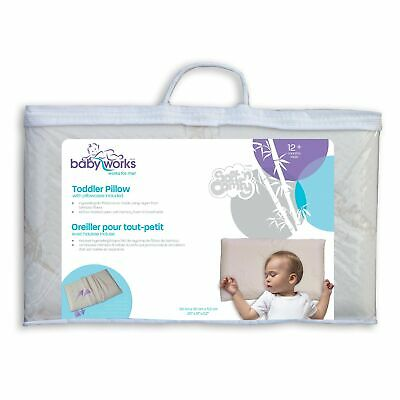 Baby Works Toddler Pillow with Bamboo Pillowcase, Off-White Cream