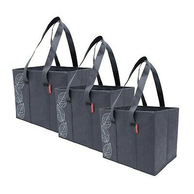 Planet E Reusable Grocery Shopping Bags – Large Collapsible Boxes with Reinfo...