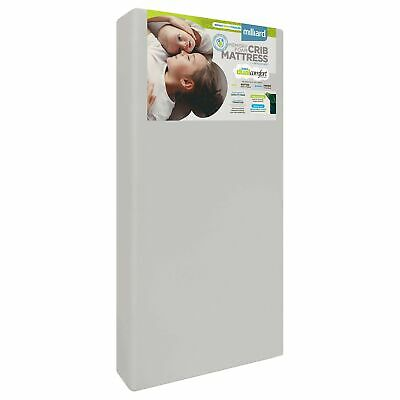 Milliard Crib Mattress, Dual Comfort System with Memory Foam, Firm Side For B...