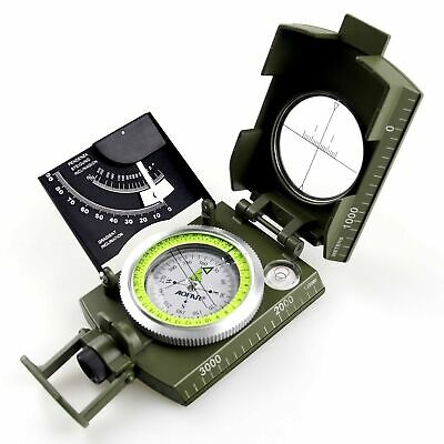 AOFAR AF-M2-B Military Compass Lensatic Sighting-Multifunctional, Fluorescent...