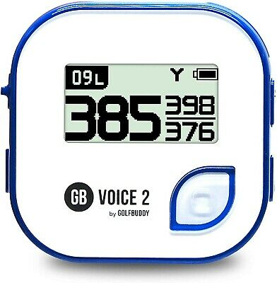 GolfBuddy Voice 2 Golf GPS/Rangefinder White/Blue