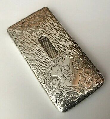 Antique Hallmarked Silver Chased Engraved Novelty Card Case Henry Williamson