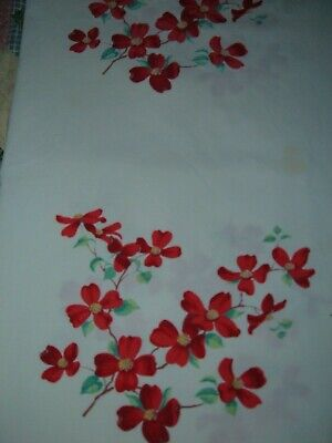 Vintage Towel Wilendur Red Floral