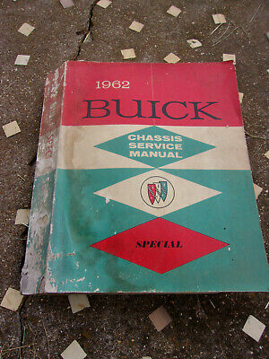 Original 1962 Buick Special Chassis Service Manual As Is Worn