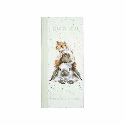 2021 Slim Diary - Week To View - Fully Illustrated - 17 x 7.5cms - Wrendale