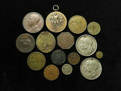 GB Collection of 15x Tokens and Medals 19th-20thC