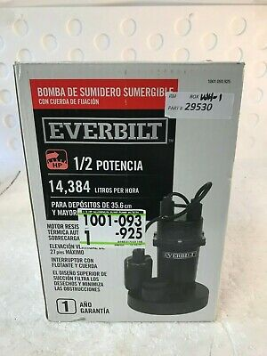 Everbilt 1/2 HP Submersible Sump Pump with Tether