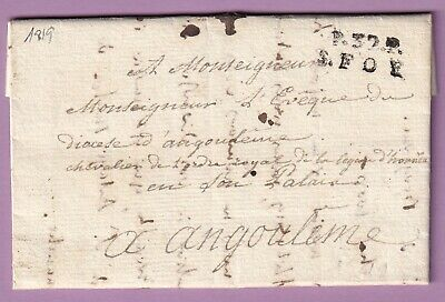 Marque P32P St Foy Gironde 1819 Texte Velines Dordogne Angouleme Lettre Cover