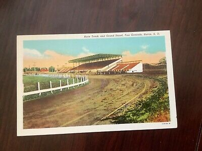 Race Track and Grand Stand Fair Grounds, Huron, S.D.  POSTCARD