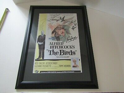 Framed Wall Art Picture Movie Poster Signed Autograph The Birds Tippi Hedren
