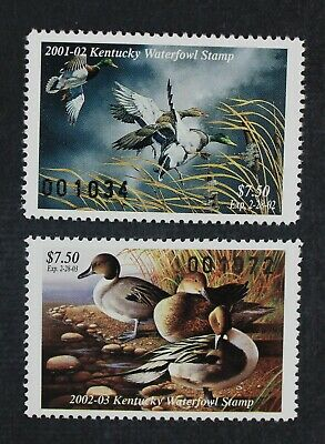 CKStamps: US State Duck Stamps Collection Kentucky (2) Mint NH