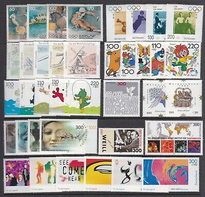GERMANY COLLECTION 1990s  ALL NEVER HINGED MINT COMPLETE SETS
