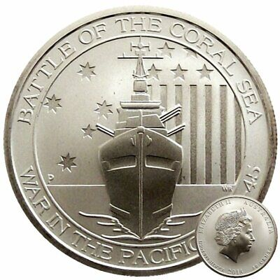 ++ Battle of the Coral Sea 2015 - Perth Mint - 1/2 oz Silber ++