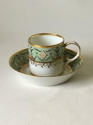 Antique 18Th Century Porcelain Coffee Can & Saucer - A/F