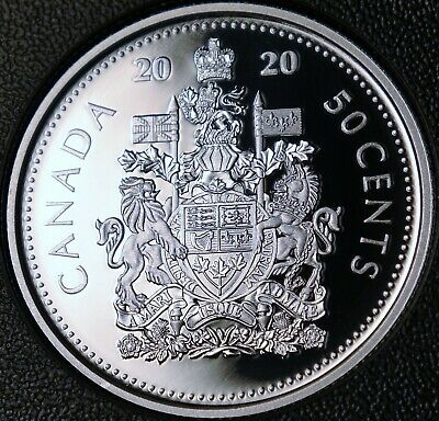 2020 Canada PROOF Pure SILVER FIFTY Cents Coin Half Dollar from VE Day Proof Set