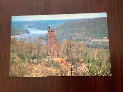 Aerial View of Bowman's Hill and Tower Washington Crossing Park PA. POSTCARD