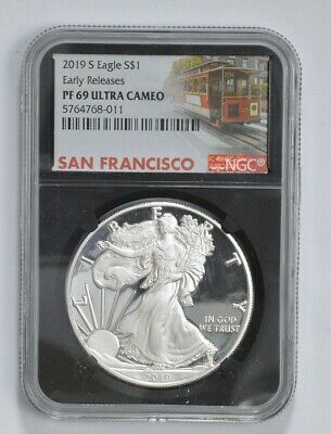 2019-S Proof American Silver Eagle - NGC PF69 ER *713