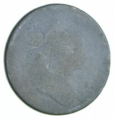 Tough - Worn Date Draped Bust Large Cent - US Early Copper Coin *601