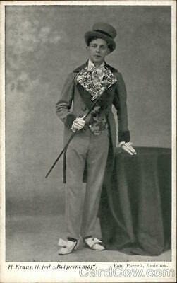 Smichov Czech Actor or Performer Postcard Vintage Post Card