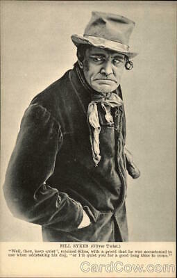 """Actor Photograph of Bill Sykes from """"Oliver Twist"""" Postcard Vintage Post Card"""