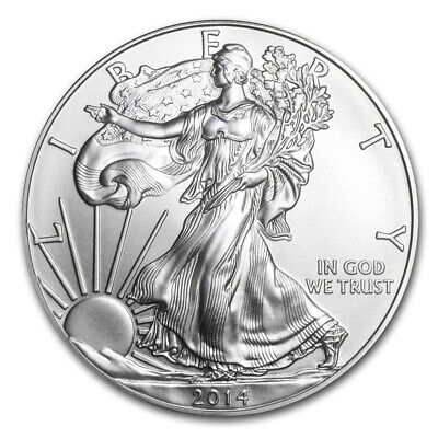 2014 Silver American Eagle One Ounce Oz Coin In Coin Flip