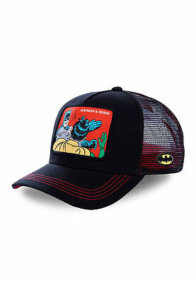 Capslab Trucker Cap Batman & Robin Black