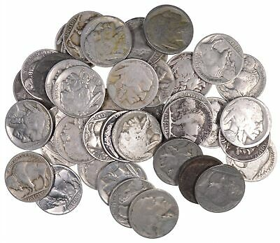 40 - Dated 1920's and 1930's Buffalo Indian Nickels - Roll Lot Collection *915