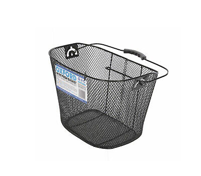 Storage Container Riding Pouch With Carry Handle Mesh Basket Bike Front Bag KK