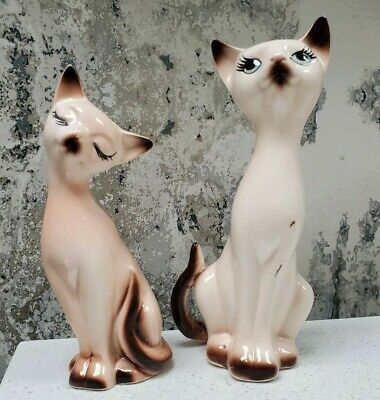 Vintage Siamese Cat Pair Salt & Pepper Shakers