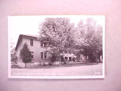1930 RPPC REAL PHOTO RED BOILING SPRINGS TENNESSEE THE CLOYD HOTEL Fine