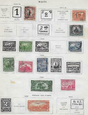 11 Haiti Stamps w/Postage Due from Quality Old Album 1898-1928