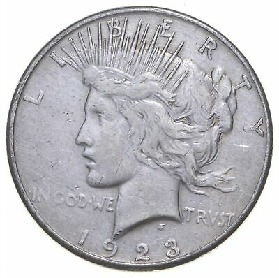 Early - 1923-D - Peace Silver Dollar - 90% US Coin *420