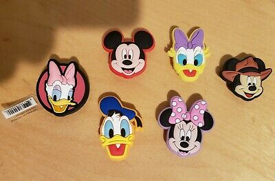 Crocs Shoe Charms Mickey Mouse, Minnie Mouse, Daisy, Donald Duck 6 pcs Jibbitz