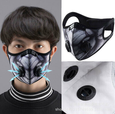 Cycling Dust Activated Carbon Face Shield With Filter Bicycle Mouth Cover