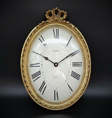 Vedette Wanduhr Golddekore Made in France