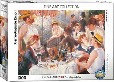 Eurographics Luncheon of The Boating Part by Pierre Auguste Renoir 1000-Piece...