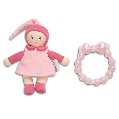 Corolle Pink Mini Miss and Baby Teether