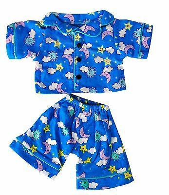 "Sunny Days Blue Pj's Teddy Bear Clothes Outfit Fits Most 14"" - 18"" Build-A-Be..."