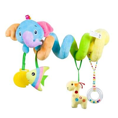 Baby car seat toys Activity Spiral Plush Stroller and Crib Toys for Travel ac...