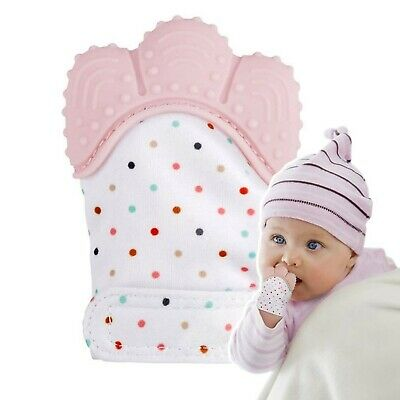 Teething Mitten,The Original Mom-Invented Silicone Teether Mitten with Travel...